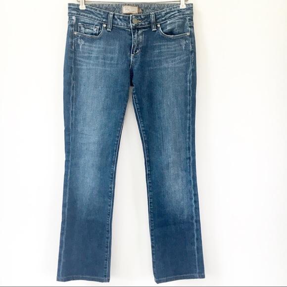 PAIGE Denim - PAIGE Blue Heights Distressed Skinny Leg Jeans